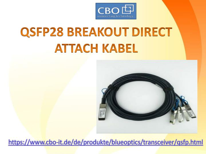 qsfp28 breakout direct attach kabel n.