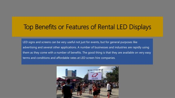 top benefits or features of rental led displays n.