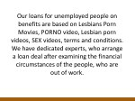 our loans for unemployed people on benefits