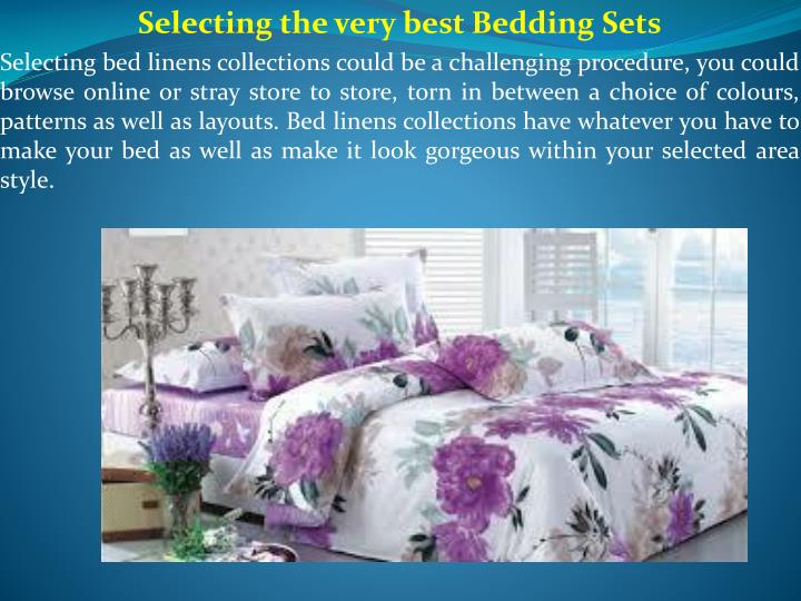 selecting the very best bedding sets selecting n.