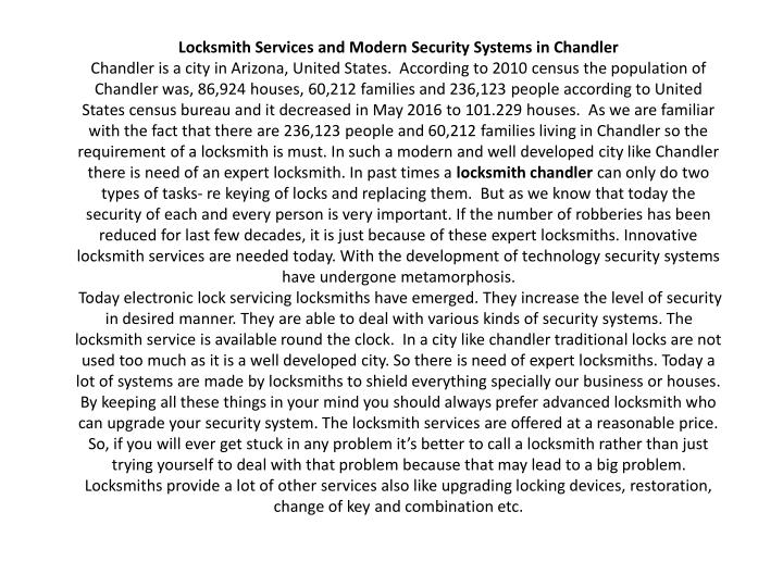 locksmith services and modern security systems n.