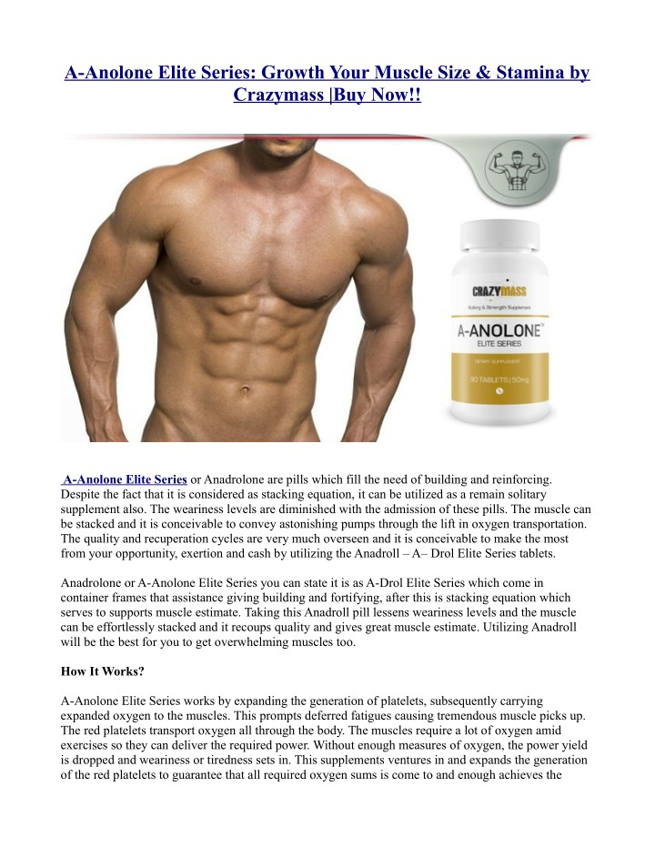a anolone elite series growth your muscle size n.