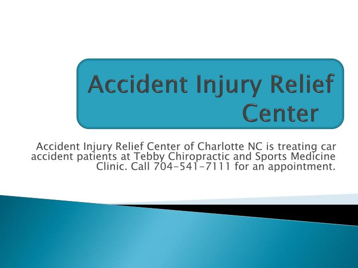 accident injury relief center n.