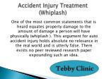 accident injury treatment whiplash