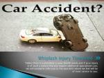 whiplash injury threshold