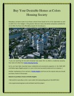 buy your desirable homes at colors housing society