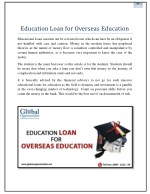 education loan for overseas education