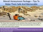 manali honeymoon package tips to make them safe and memorable