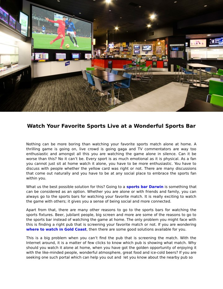 watch your favorite sports live at a wonderful n.