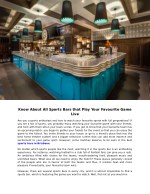 know about all sports bars that play your