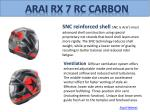arai rx 7 rc carbon