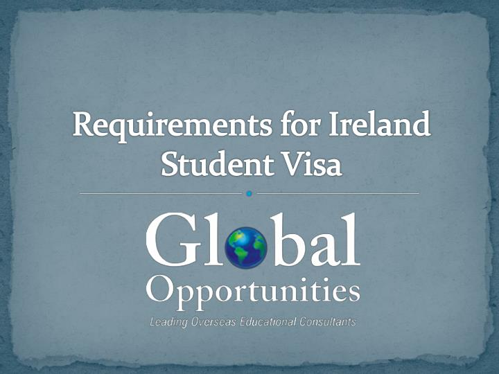requirements for ireland student visa n.