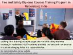 fire and safety diploma courses training program in hyderabad india