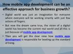how mobile app development can be an effective approach for business growth 2