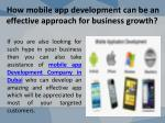 how mobile app development can be an effective approach for business growth 3