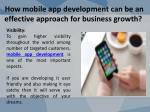 how mobile app development can be an effective approach for business growth 5