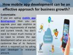 how mobile app development can be an effective approach for business growth 7