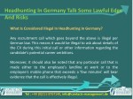 headhunting in germany talk some lawful edge 5