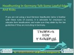 headhunting in germany talk some lawful edge 9