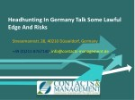 headhunting in germany talk some lawful edge