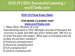eco 372 edu successful learning eco372edu com 2