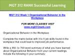 mgt 312 rank successful learning 3