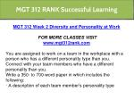 mgt 312 rank successful learning 5