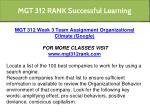 mgt 312 rank successful learning 6