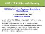 mgt 312 rank successful learning 6