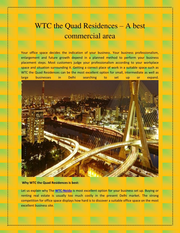 wtc the quad residences a best commercial area n.