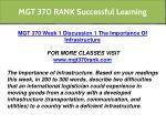 mgt 370 rank successful learning 1
