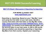 mgt 370 rank successful learning 10