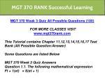 mgt 370 rank successful learning 11