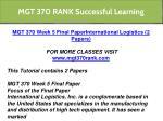 mgt 370 rank successful learning 17