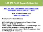 mgt 370 rank successful learning 5
