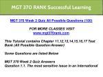 mgt 370 rank successful learning 8
