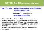 mgt 373 rank successful learning 12