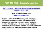 mgt 373 rank successful learning 3