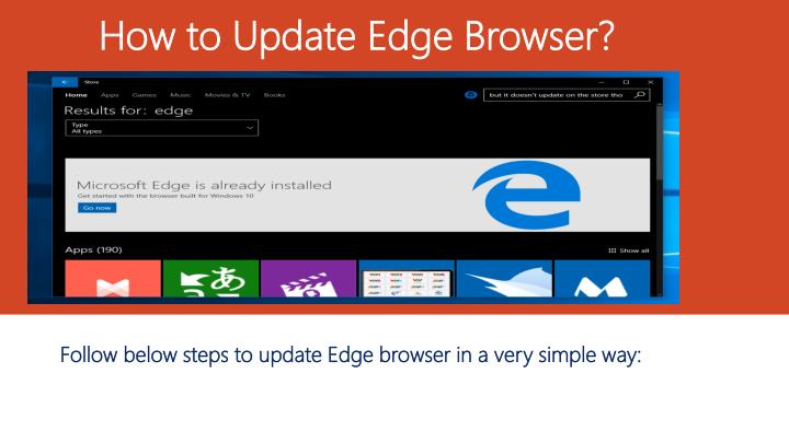 how to update edge browser n.