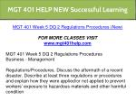 mgt 401 help new successful learning 17
