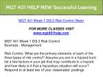 mgt 401 help new successful learning 3