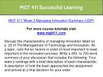 mgt 411 successful learning 10
