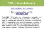mgt 411 successful learning 22