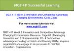 mgt 411 successful learning 6