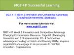 mgt 411 successful learning 7