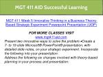 mgt 411 aid successful learning 24