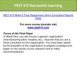 mgt 415 successful learning 11
