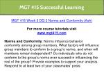 mgt 415 successful learning 7