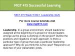 mgt 415 successful learning 9