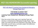 mgt 426 homework successful learning 11